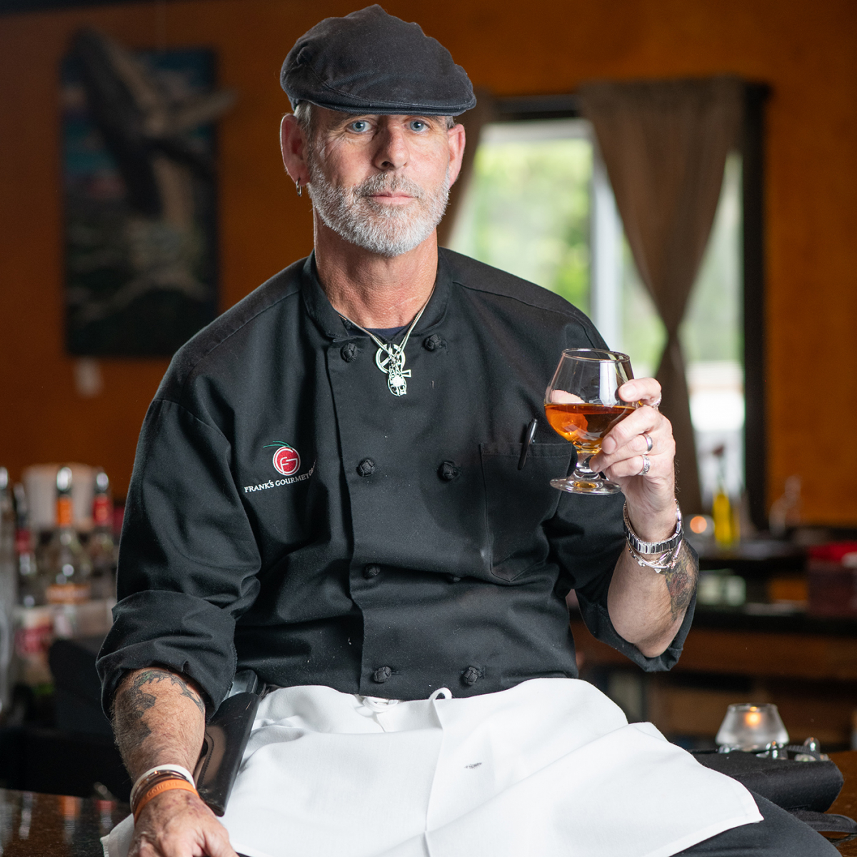 Chef Frank Grace of Frank's Gourmet Grille in Mystic, CT
